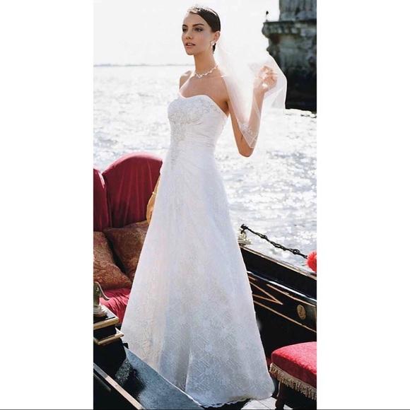 cb8cf9024addd NWT David s Bridal Full Lace Wedding Dress